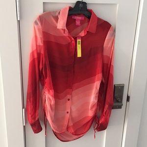 Catherine Malandrino long sleeve blouse. NWT